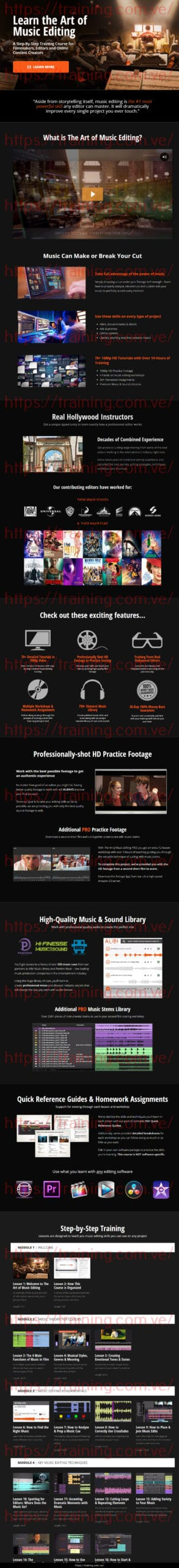 The Art Of Music Editing by Film Editing Pro Buy