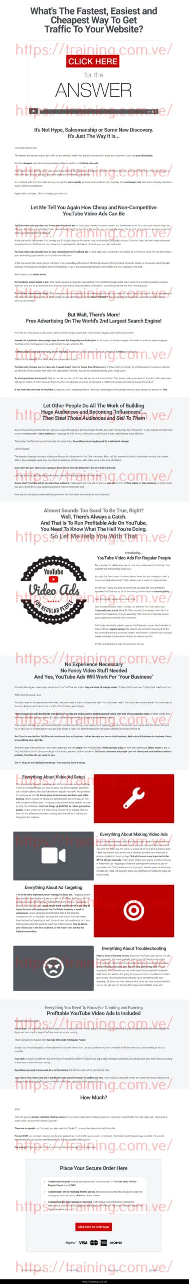 YouTube Video Ads For Regular People by Dave Kaminski Buy