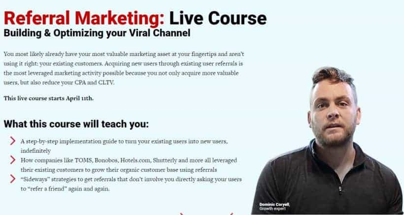 Referral Marketing Training by Conversionxl