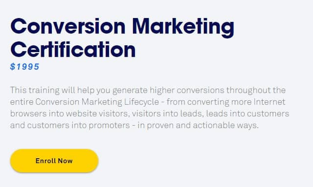 Conversion Marketing Certification by Convertedu Leadpages