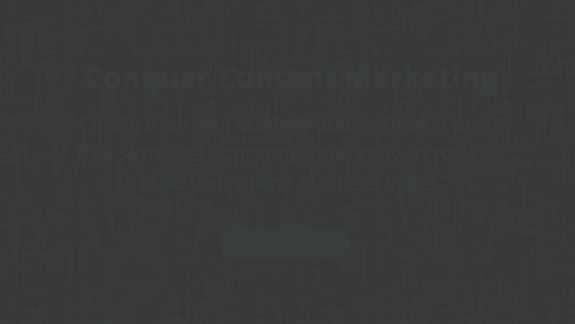 Conquer Content Marketing by Jorden Roper