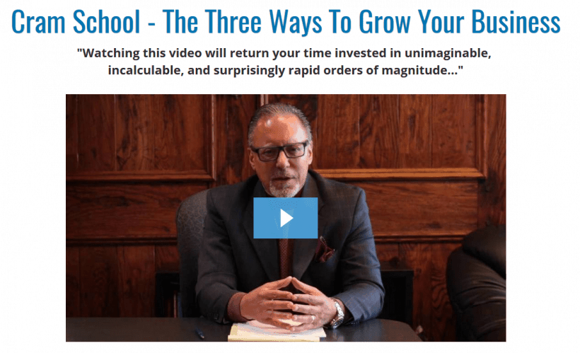 Jay Abraham: Cram School The Three Ways To Grow Your Business