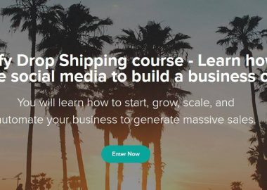 Shopify Drop Shipping course by Sebastian Ghiorghiu - Learn how to leverage social media to build a business online