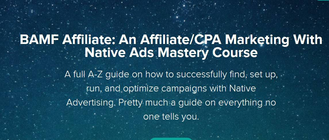 BAMF Affiliate An Affiliate-CPA Marketing With Native Ads Mastery Course by Omid Ghiam