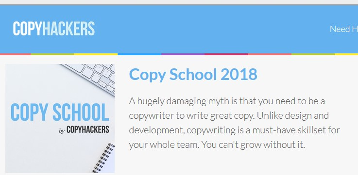 Copy School 2018 by CopyHackers