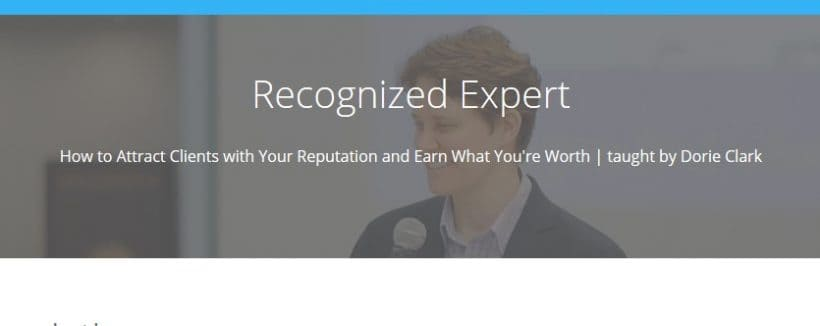Recognized Expert by Dorie Clark