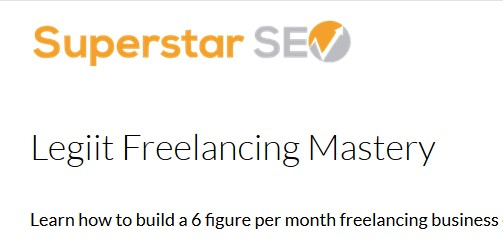 Legiit Freelancing Mastery by Superstarseo