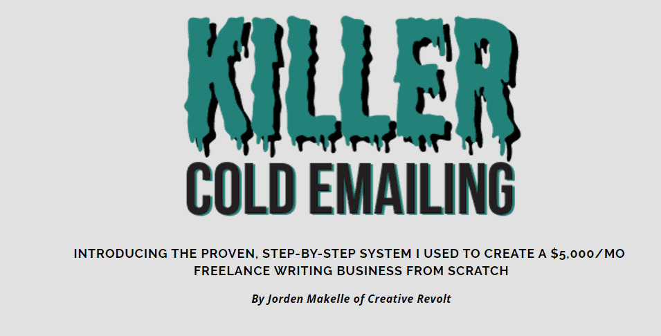 Killer Cold Emailing 2019 by Jorden Roper