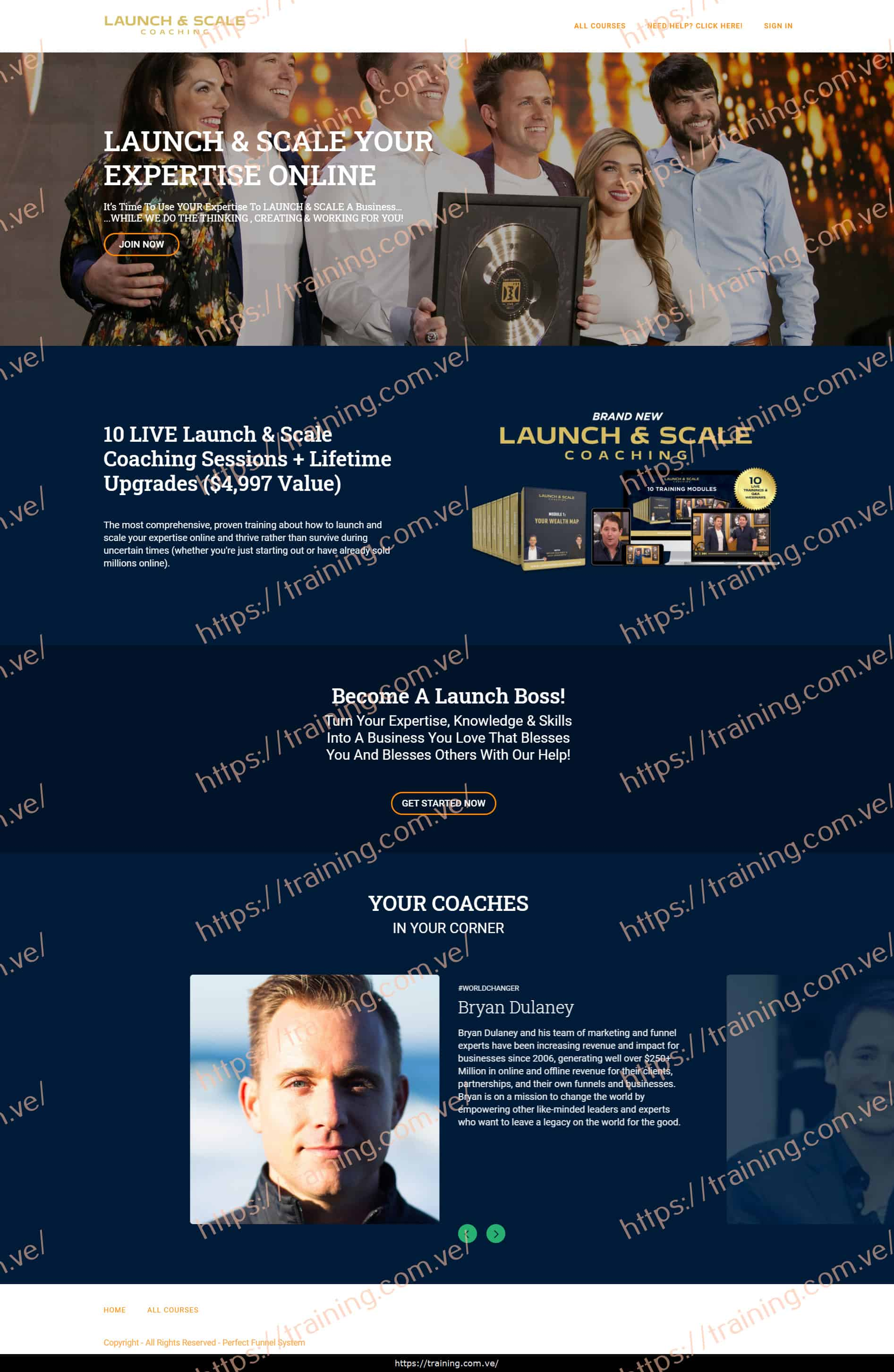 The Launch & Scale Coaching with Bryan Dulaney & Nick Unsworth Sales Page