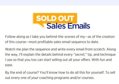 Sold Out Sales Emails by Luisa Zhou